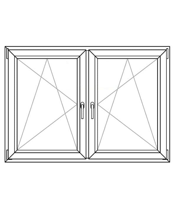 section window pvc 7 cameras pilar horadada