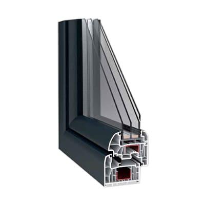 7 camera pvc window pilar horadada